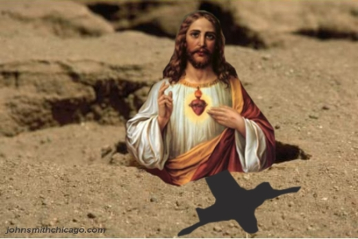 Jesus Sees His Shadow w shw2crpd